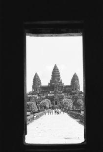 Angkor Wat Doorway View by Danita Delimont