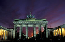 Brandenburg Gate at night by Danita Delimont