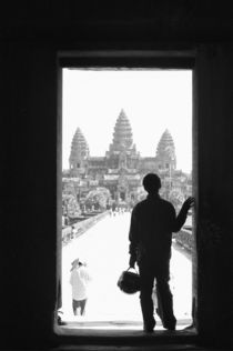 Doorway & Person Angkor Wat (NR) by Danita Delimont