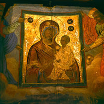 Madonna and Child Fresco by Danita Delimont
