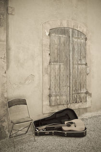 Guitar and chair by Danita Delimont