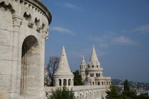 Castle towers of the Fishermen's Bastion by Danita Delimont