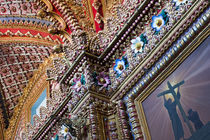 Detail inside ornate Catholic church by Danita Delimont
