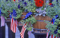 Flags and Flowers in Philipsburg Montana von Danita Delimont
