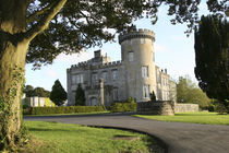 Dromoland Castle side entrance with no people framed by tree branches von Danita Delimont