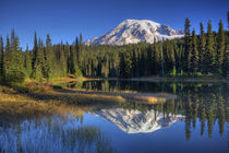 Rainier reflected in Reflection Lake by Danita Delimont