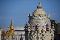Barcelona roof top views from Casa Batllo by Danita Delimont