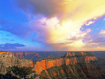View from North Rim of clearing storm over the canyon von Danita Delimont