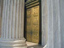 The front entrance of the United States Supreme Court building by Danita Delimont