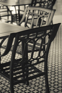 Cafe chairs by Danita Delimont