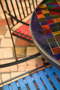 Hundertwasser Outdoor Cafe Furniture by Danita Delimont
