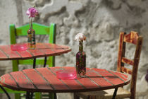 Hania: Colorful Cafe Table by Danita Delimont