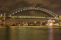 Sydney Harbour Bridge at Night by Danita Delimont