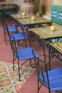 Squala Bastion Cafe Tables / Cafe Maure by Danita Delimont