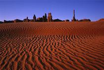 Desert ripples lead to landmarks by Danita Delimont