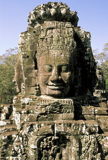 Heads of Bayon by Danita Delimont