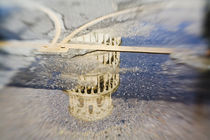 Selective Focus of the Leaning Tower of Pisa in Reflection by Danita Delimont