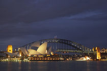Sydney Opera House and Sydney Harbour Bridge at Dusk by Danita Delimont