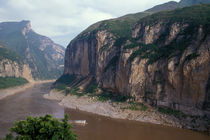 Landscape of entrance to Qutang Gorge von Danita Delimont