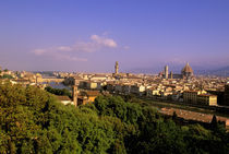 Florence view w/ cafe from Piazza Michelangelo by Danita Delimont