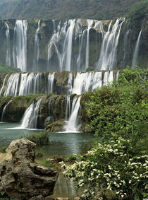 Jiulong (Nine dragon) waterfall is a 10-tier series of waterfalls by Danita Delimont