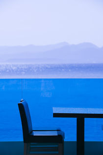 Hersonisos: Eastern Crete Coastline View from Cafe Table by Danita Delimont