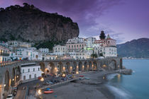 Campania (Amalfi Coast) Atrani: Evening Town View by Danita Delimont