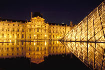 Louvre museum by night by Danita Delimont