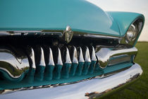 Detail of antique car grill at a car show by Danita Delimont