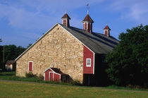 Stone Bank Barn with Cupolas by Danita Delimont
