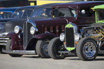 Antique cars lined up at an antique car show by Danita Delimont
