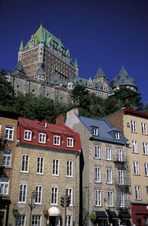 Lower Town and Chateau Frontenac by Danita Delimont