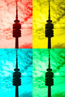 Munich television tower pop art by Falko Follert