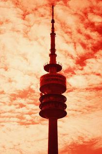 Munich television tower pop art von Falko Follert