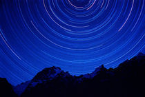 Star swirls over 7000+ meter Masherbrum in Hushe Peaks area of Karakoram Himalaya by Danita Delimont