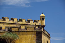 Historic yellow Saint Tiago Fortress (aka Forte de Sao Tiago or Fort of Saint James) by Danita Delimont