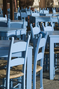 Hania: Venetian Port / Cafe Tables by Danita Delimont