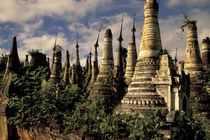 Ancient ruins of Indein Stupa Complex by Danita Delimont