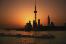 Shanghai View of Oriental Pearl TV Tower and highrises von Danita Delimont