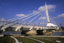 Provencher Bridge over the water by Danita Delimont