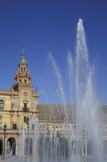 Andalucia Fountain and ornate Plaza de Espana (built 1929) in Parque de Maria Luisa by Danita Delimont