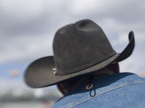 Cowboy hats in use at the Tucson Rodeo by Danita Delimont