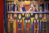 Artwork depicting apostles and saints in Ethiopian Orthodox Church by Danita Delimont