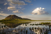 Bear Butte reflects into Bear Butte Lake near Sturgis South Dakota by Danita Delimont