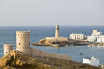 Towers of Al Ayajh Fort / Sur Bay / Late Afternoon von Danita Delimont