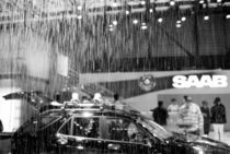 Geneva Motor Show; artificial rain at the Saab exhibit by Danita Delimont