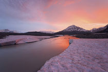 View of Alsek River at sunset by Danita Delimont
