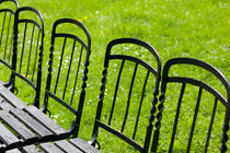 Vienna: Park Benches / Burggarten / Palace Gardens by Danita Delimont