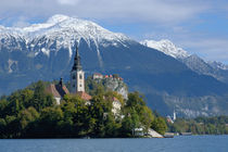 Bled Castle and Julian Alps by Danita Delimont