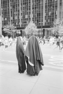 NEW YORK: New York City Nuns Watching NYC Marathon by Danita Delimont
